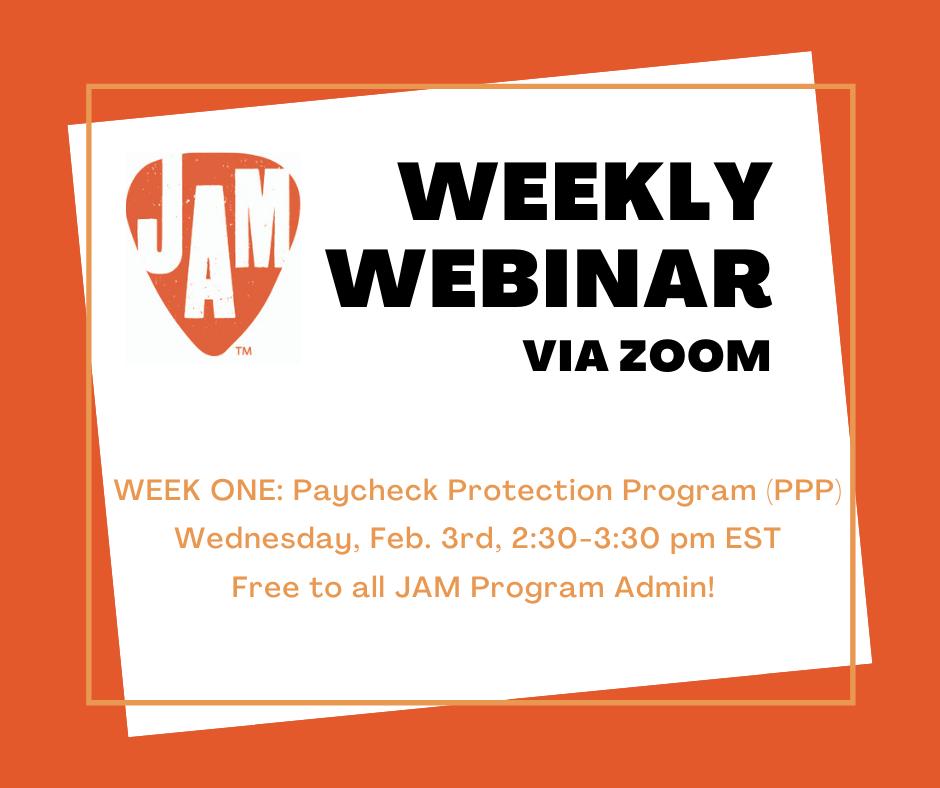 JAM Weekly Webinar